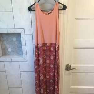 Peach and pink Vince Camuto maxi dress